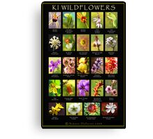 KANGAROO ISLAND WILDFLOWER CHART Canvas Print