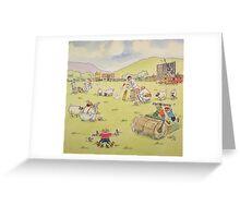 Village Cricket Greeting Card