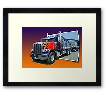 Out of Picture Peterbilt Dump Truck Framed Print