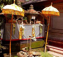Balinese Shrines in Poleng by JonathaninBali