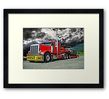 Monster Truck Hauler Framed Print
