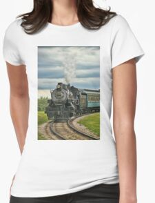 Old Steam Train 2024 Womens Fitted T-Shirt
