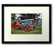 Old Red Steel-Wheeled Tractor Framed Print