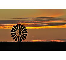 Sunset Windmill 1 Photographic Print