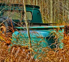 Old Pick up Truck in the Fall Grass Sticker