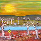 """Ned Kelly Gangs water hole"" Original Painting Sold on Commission by EJCairns"