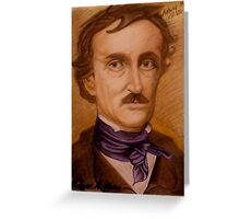 Edger Allen Poe -200th Birthday Commemorative Drawing - Anthony Mitchell Greeting Card