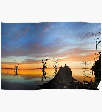 Lake Bonney Sunset 1 Poster