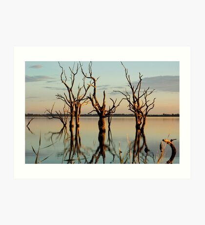 Lake Bonney Sunset 2 Art Print