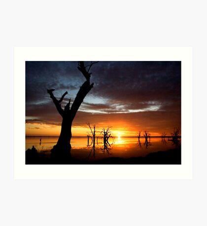 Lake Bonney Sunset 3 Art Print