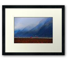 Blueberry Fields in the Valley Framed Print