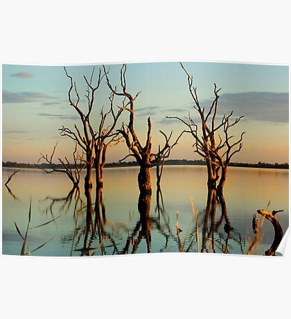 Lake Bonney Sunset 5 Poster