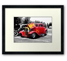 Flaming Hot Rod Framed Print