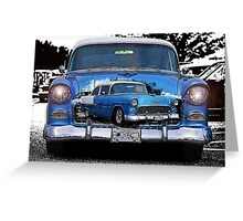 Classic Chevy Double Exposure Greeting Card