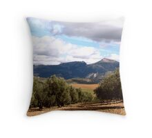 View Through the Olive Grove Throw Pillow