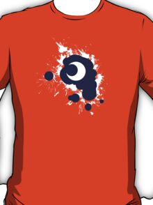 Lunar Splat (white paint, violet background) T-Shirt