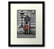 Red British Guard Framed Print