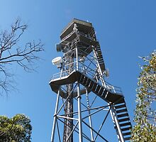 Fire Location Tower! Mt. Lofty, Adelaide Hills.  by Rita Blom
