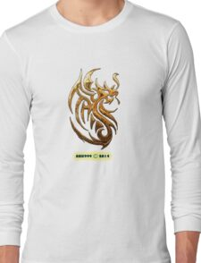 Golden Dragon tee-shirt and stickers Long Sleeve T-Shirt