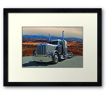 Peterbilt on the Prairies  Framed Print