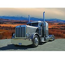 Peterbilt on the Prairies  Photographic Print