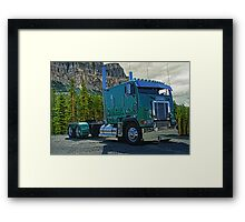 Kenworth Cabover in the Rockies Framed Print