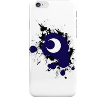 Lunar Splat (black paint, white background) iPhone Case/Skin