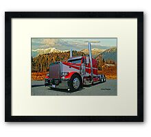 Peterbilt in the Fall Framed Print