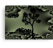 Treedom fractal art mixed with digital drawing Canvas Print