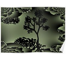 Treedom fractal art mixed with digital drawing Poster