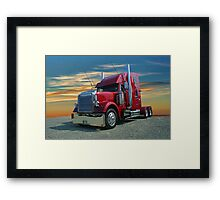 Freightliner in the Sunset Framed Print
