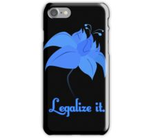 Legalize Poison Joke (text, black background)  iPhone Case/Skin