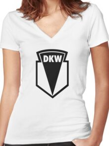 DKW Women's Fitted V-Neck T-Shirt