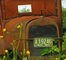 Old Washington Rusted Ford Sticker
