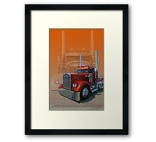Old Classic Kenworth Framed Print