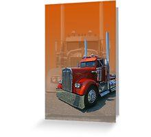 Old Classic Kenworth Greeting Card