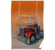 Old Classic Kenworth Poster