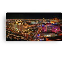 The Vegas Strip at Night Canvas Print