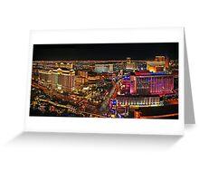 The Vegas Strip at Night Greeting Card