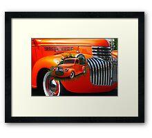 Orange Ford Pick-up Custom Framed Print