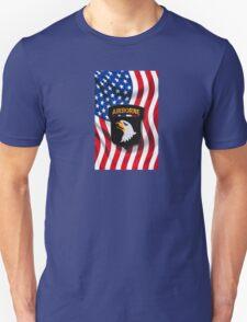 101st Airborne - American Flag T-Shirt