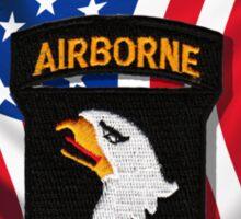 101st Airborne - American Flag Sticker