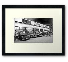 Ocean Park Ford Woodys Framed Print