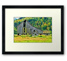 Old Barn in the Fall Framed Print