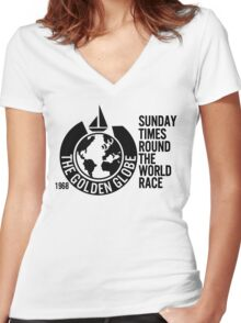 The Golden Globe ' Round the World Race 1968 Women's Fitted V-Neck T-Shirt