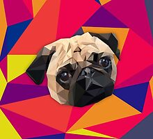 This pug loves you by Kara Graphic Design