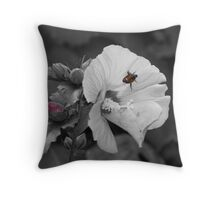 Japanese Beetle on Flower Throw Pillow