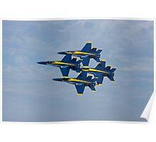 Blue Angels - Diamond Formation Poster