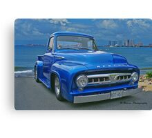 Blue Mercury Pickup on the Beaches of Mexico Canvas Print
