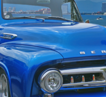 Blue Mercury Pickup on the Beaches of Mexico Sticker